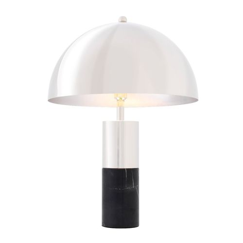 EICHHOLTZ Table Lamp Flair * Black marble | nickel finish