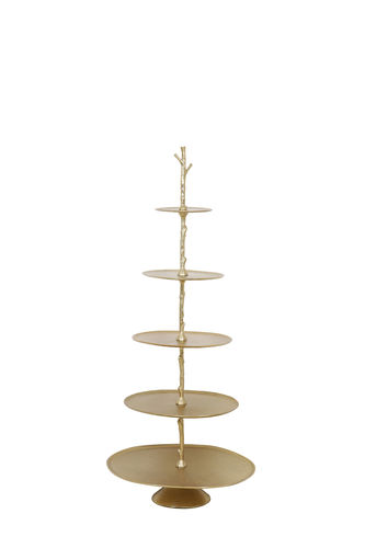 Light & Living 6608285 - Etagere 5 Schichten 53x48x122,5 cm TRESA gold