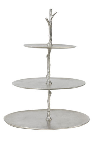 Light & Living 6608100 - Etagere 3 Schichten 35x31x45 cm TRESA roh nickel