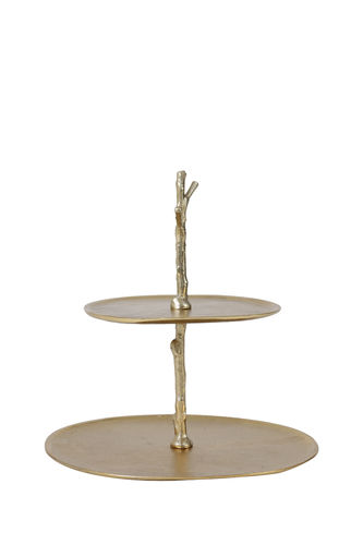 Light & Living 6608085 - Etagere 2 Schichten 30,5x27,5x31 cm TRESA gold
