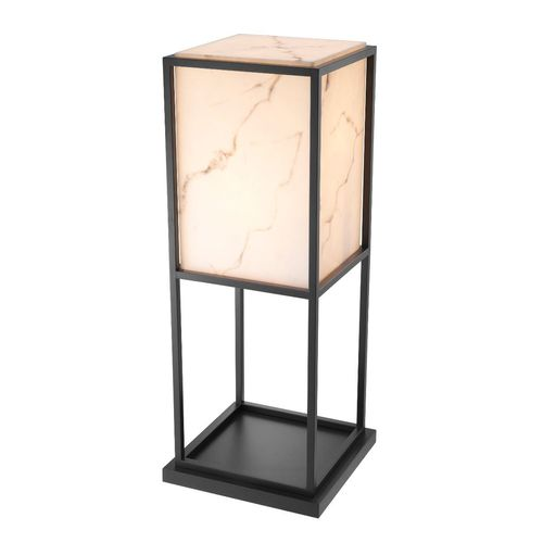 EICHHOLTZ Foor Lamp Barret * Black finish | faux alabaster