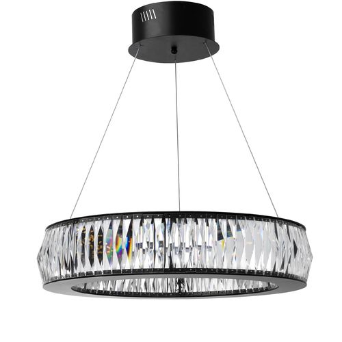 EICHHOLTZ Chandelier Vancouver S * Black finish | crystal glass