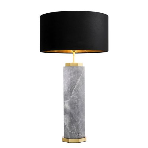 EICHHOLTZ Table Lamp Newman * Grey marble | antique brass finish