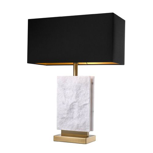 EICHHOLTZ Table Lamp Charleston * Antique brass finish | marble