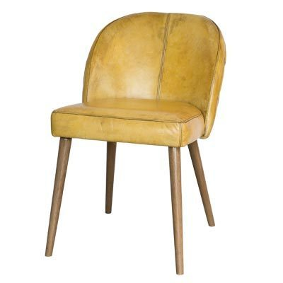 "Hazenkamp Arm Chair ""XENA"" Vintage Yellow + Legs Naturel"