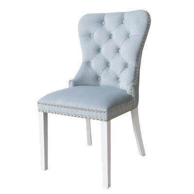 Hazenkamp Side Chair Madamme II Pagani Baby Blue Legs White