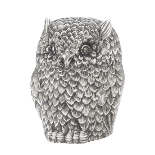 EICHHOLTZ Box Owl * Antique silver plated