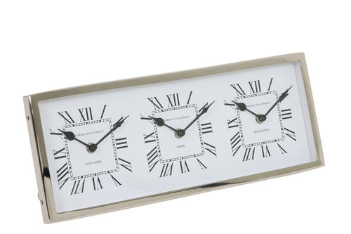 Light & Living 7107019 - Uhr 41x16x3 cm KELSTON antik Weiß-Nickel