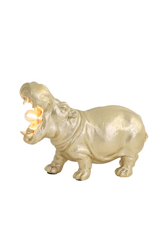 Light & Living 1854385 - Tischleuchte E14 27x11x17,5 cm HIPPO matt Gold