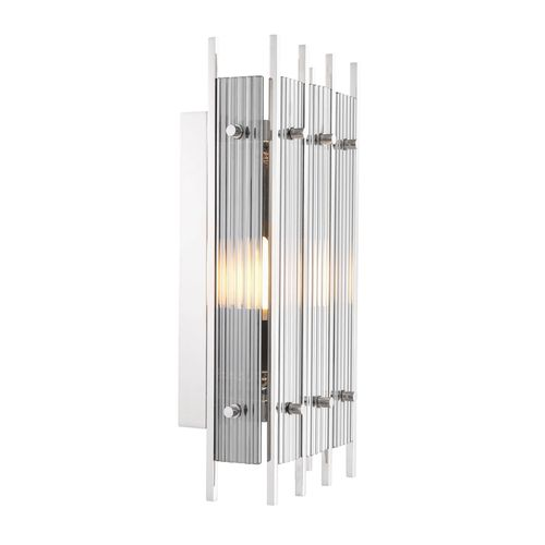 EICHHOLTZ Wall Lamp Sparks S * Nickel finish | smoke glass