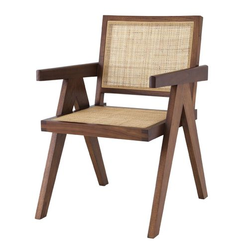 EICHHOLTZ Dining Chair Aristide * Classic brown | rattan cane webbing