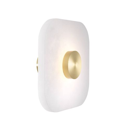 EICHHOLTZ Wall Lamp Nomad square S * Alabaster | light brass finish