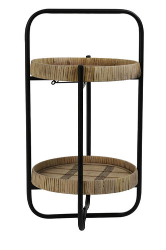 Light & Living 6609484 - Etagere 2L Ø33x59,5 cm LORENA naturell-schwarz