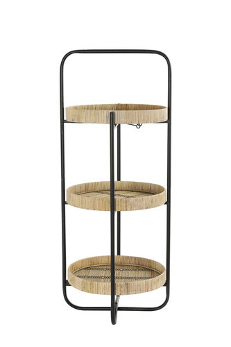 Light & Living 6609584 - Etagere 3L Ø37x89 cm LORENA naturell-schwarz