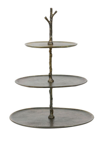 Light & Living 6608150 - Etagere 3 Schichten 35x31x45 cm TRESA antik bronze