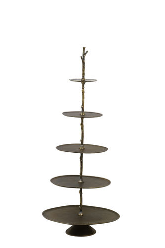 Light & Living 6608250 - Etagere 5 Schichten 53x48x122,5 cm TRESA antik bronze